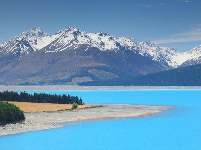 El Lago Pukaki, Nueva Zelanda
